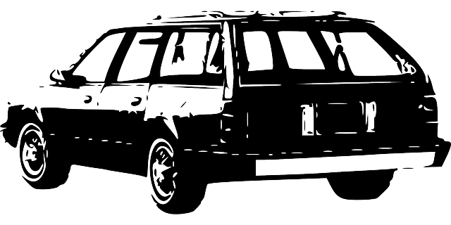 auto, kombík, kresba