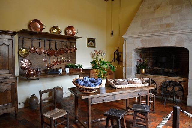 kuchyň v paláci
