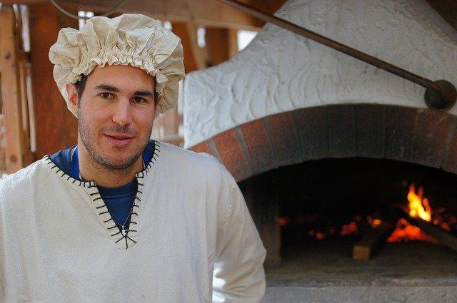 pekař u pece